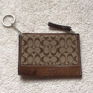 Coach Coin Pouch with Keychain